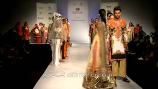 Weavers on the ramp at North East Fashion Fest