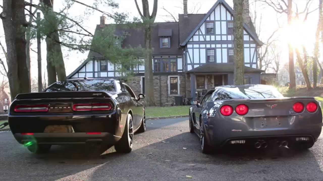 Rev Battle Challenger Hellcat Vs Corvette Z06 Youtube