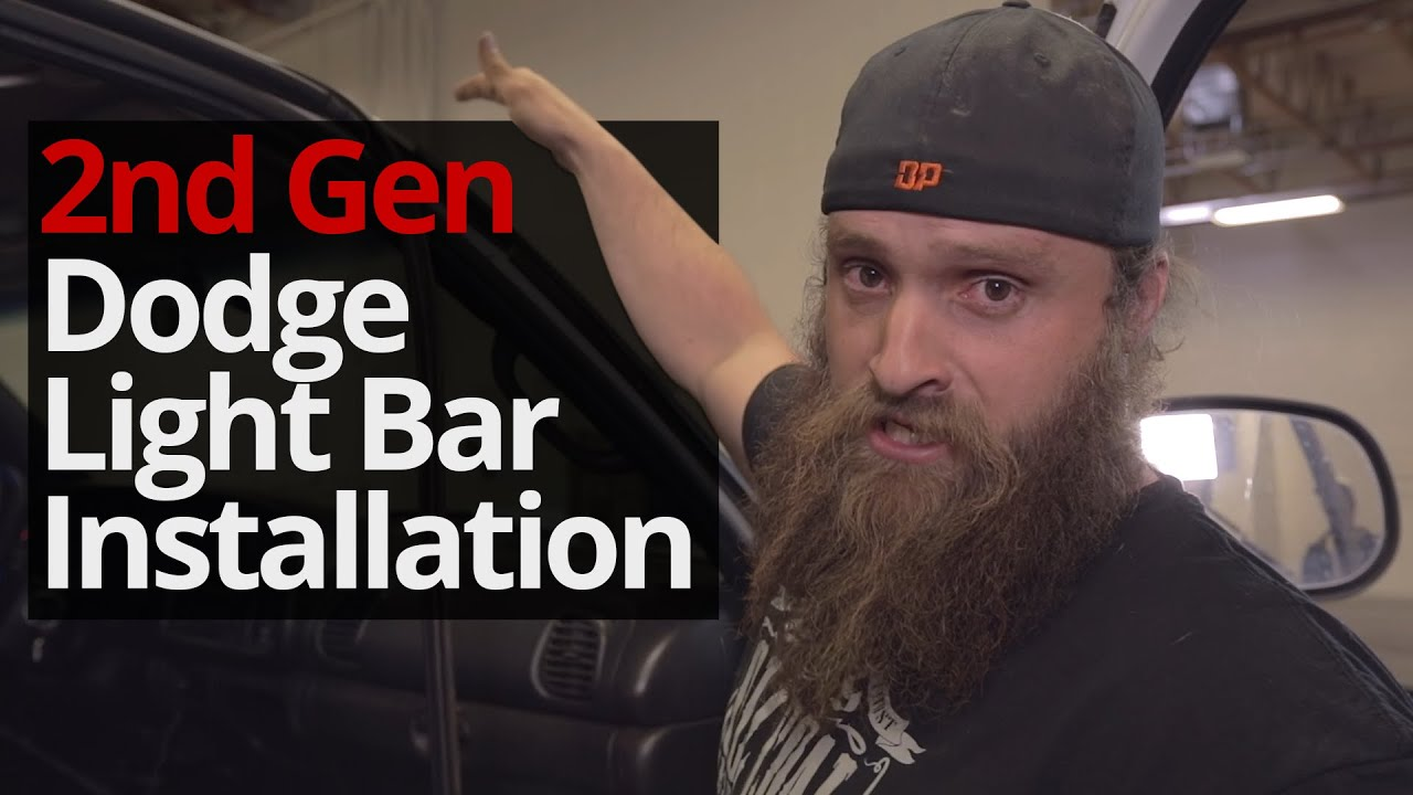 How To Install A Light Bar On A Second Gen Dodge Youtube