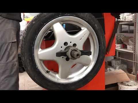 Установка литых дисков R17 AMG Aero I  с новой резиной на SLK R170