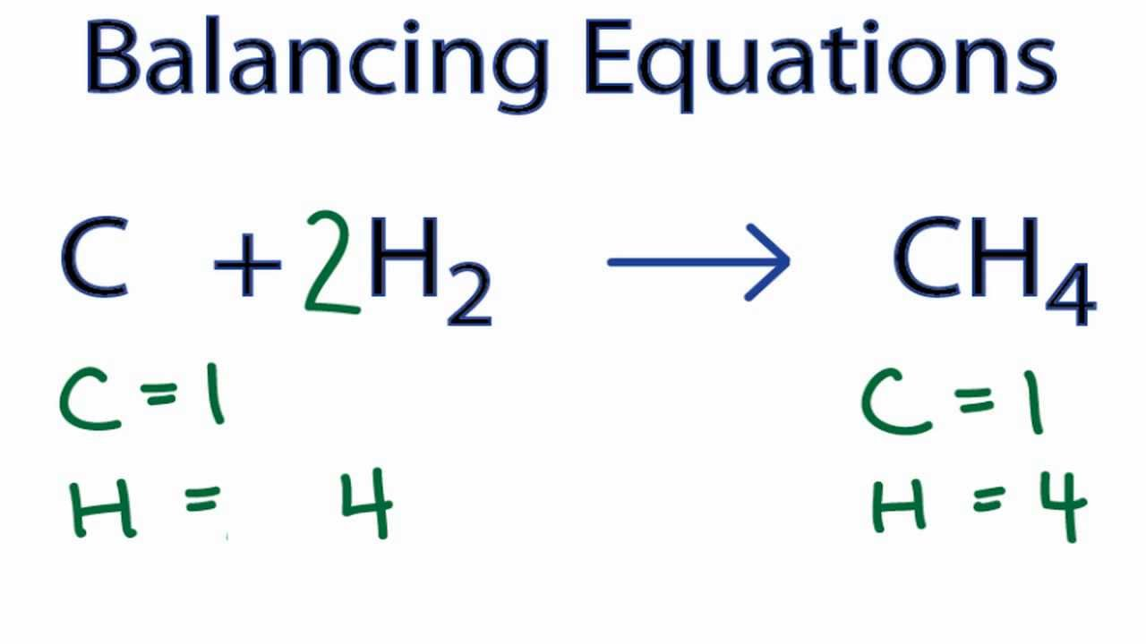 How To Balance C   H2   Ch4  Carbon   Hydrogen Gas