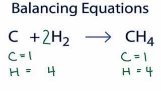 c h2 ch4 balancing equations