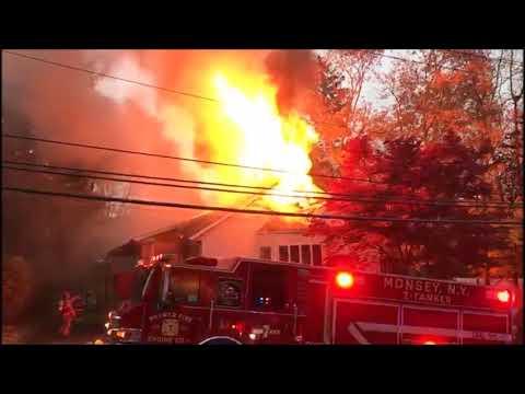 Structure Fire On Blauvelt Rd, Monsey, NY