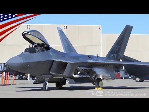 F-22ラプター戦闘機のエンジン始動音