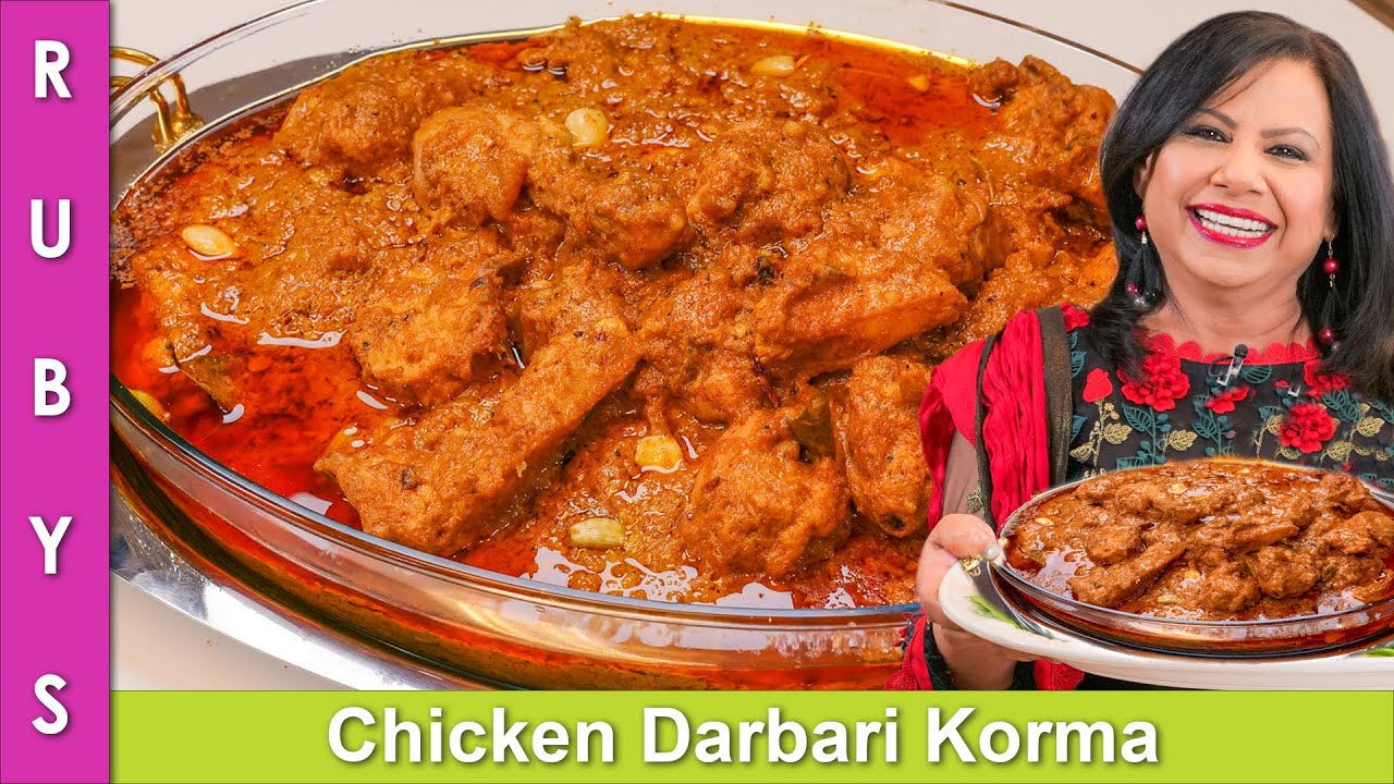 Finger Licking Good! Chicken Darbari Korma Recipe in Urdu Hindi - RKK