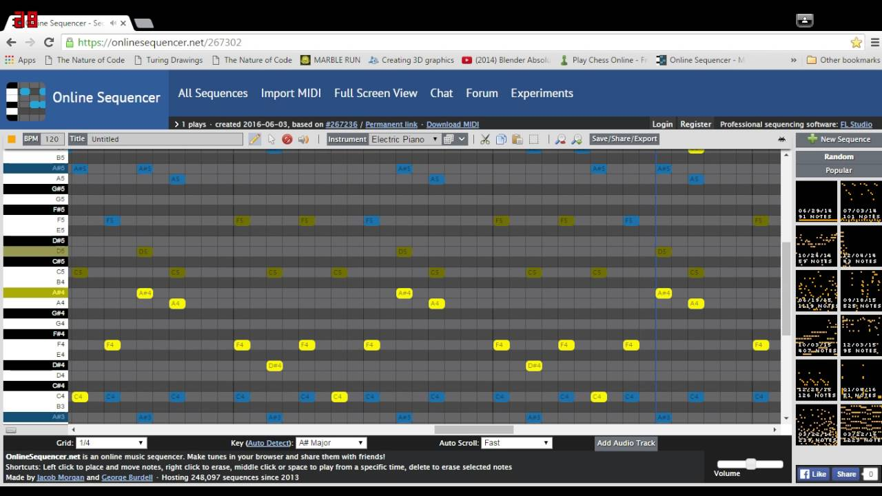 online sequencer 7 youtube