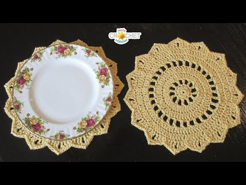 Pretty Doily Placemats Youtube