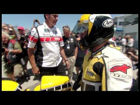 Kenny Roberts rides his 1980 Yamaha YZR500 at Laguna Seca