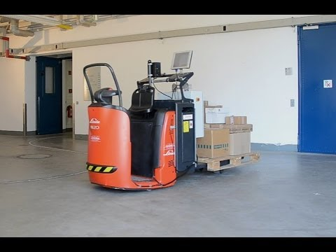 Automation of mobile systems - automation of a driverless forklift