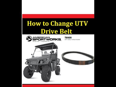 How to Change Drive Belt Trail Wagon UTV American Sportworks