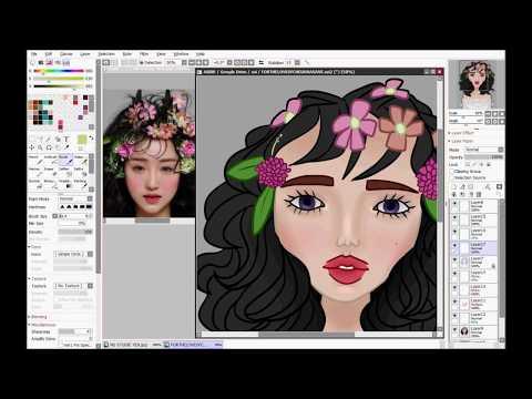 Flowery Photo Study | Speedpaint