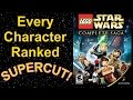 LEGO Star Wars The Complete Saga - Every Character Ranked SUPERCUT