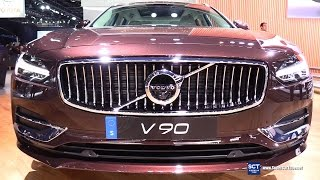 2018 Volvo V90 Wagon T6 - Exterior and Interior Walkaround - Debut at 2017 Detroit Auto Sho