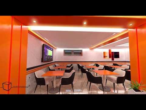 Archi-D'intérieur - Visite Virtuelle Snack Fast-Food  Rabat Tour Hassan