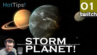 Planetbase STORM PLANET - Part 1 - CLASS S - Let's Play Planet Base Gameplay [Twitch]