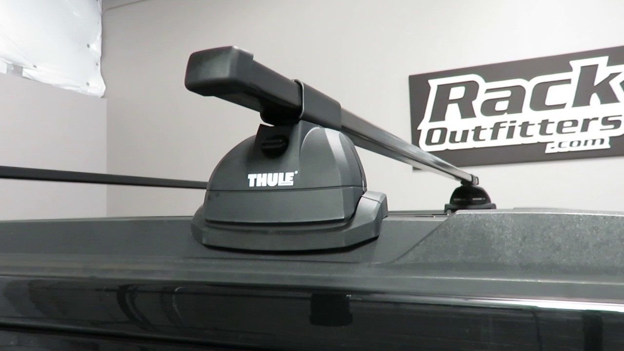 hight resolution of 2015 chevrolet tahoe with thule 460 podium squarebar roof rack crossbars