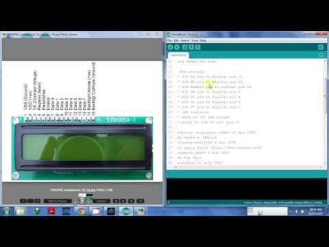 Arduino sinhalen interface 16X2 LCD display
