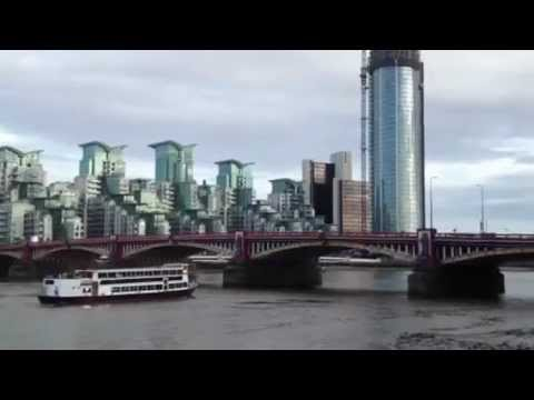 Views of London - River Thames / South Bank / MI6 Building HD