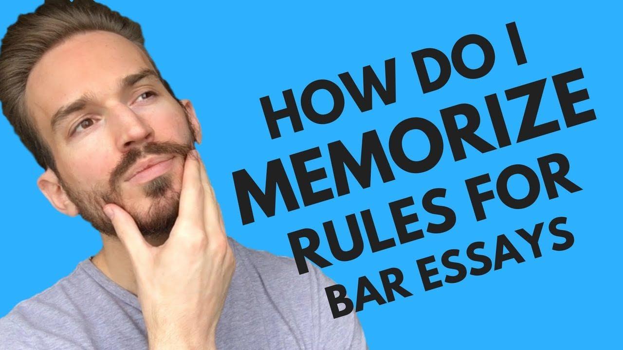 How do I memorize all the law necessary to pass bar exam essays?