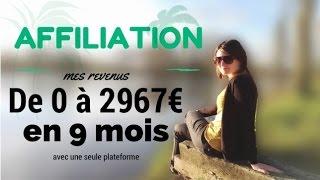 AFFILIATION : de 0 à 2967€ en 9 mois en complément