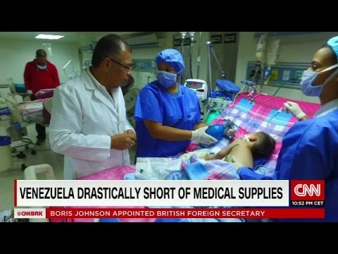 Venezuelan hospitals short of medical supplies