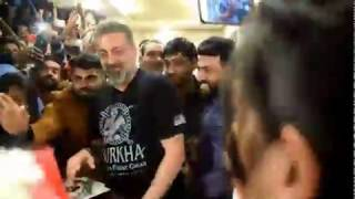 Sanjay Dutt Inaugurating ADAPT Fitness in Fraser town . Sanjay Dutt talking about Bangalore..