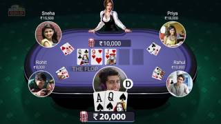 How to Play Poker on Teen Patti Gold (English)