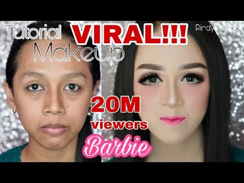 Tutorial makeup BARBIE | makeup kekinian | R I N D Y S M U A T B B