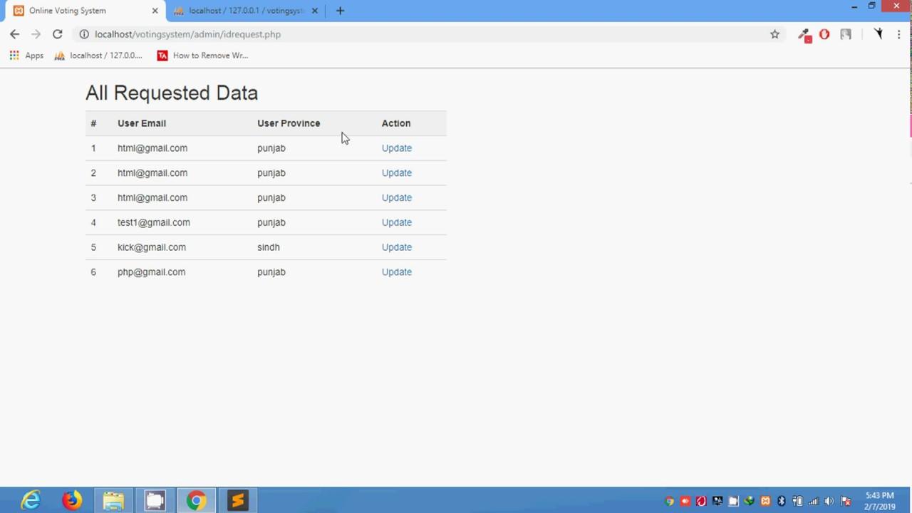 Online Voting System using PHP+SQL in urdu tutorials 018