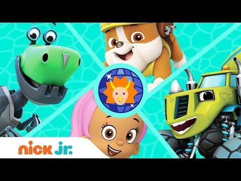 'Dinos Love Disco' 🎶 Music Video w/ PAW Patrol, Blaze, Bubble Guppies & More! | Nick Jr.
