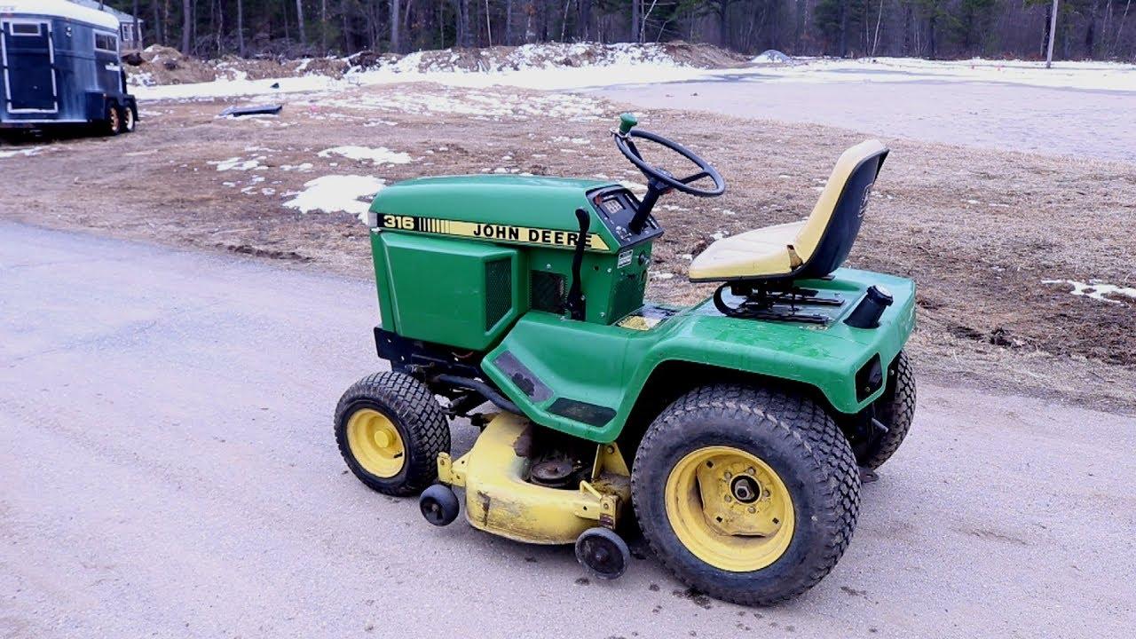John Deere 316 Garden Tractor Repair  The Jerky Hydro