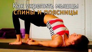 Как укрепить мышцы спины и поясницы(В этом ролике даются упражнения разных уровней сложности, выполнение которых позволит укрепить поясницу,..., 2015-11-26T07:04:17.000Z)