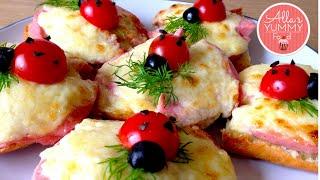 "How to make Ladybug sandwiches - Fun food for kids -  Бутерброды ""Божья коровка"""