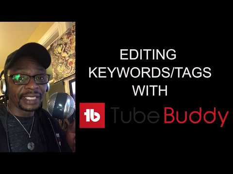 Using Tubebuddy for keyword research on youtube videos. Search engine optimization for youtube