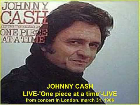 Johnny Cash 'One Piece at a Time' - RARE LIVE in London, march 31, 1986.mp4