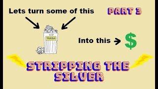 Stripping Silver Plate Salt Water Method