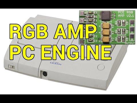 PC Engine Duo-R RGB Amp Install - YouTube
