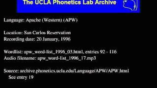 Western Apache audio: apw_word-list_1996_17