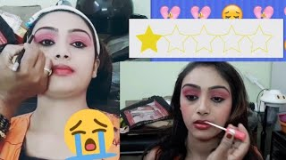 I WENT TO THE WORST REVIEWED MAKEUP ARTIST IN MY CITY | ऐसा MAKEUP आपने आज तक नहीं देखा होगा |