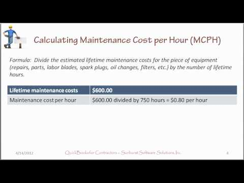 Determining Equipment Costs Per Hour - How To Calculate