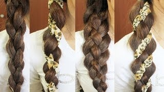 4-Strand Braid Hair Tutorial (Woven Braid + 3D Round Braid)