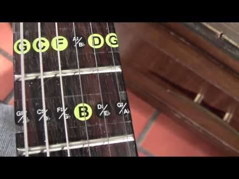 Guitar Fret Note Decals by Fret Daddy