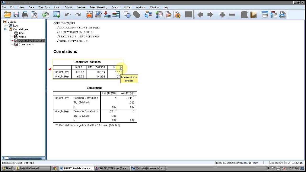 Topic 9: C – Pearson's Correlation Coefficient