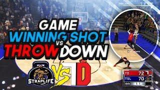CRAZIEST SMOTHERED GAME WINNING SHOT! AGAINST RANK 6 TEAM THROWDOWN NBA2K18