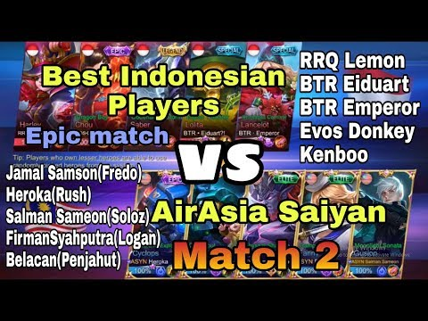 Airasia Saiyan vs Best Indonesian Players match 2(Rank match)