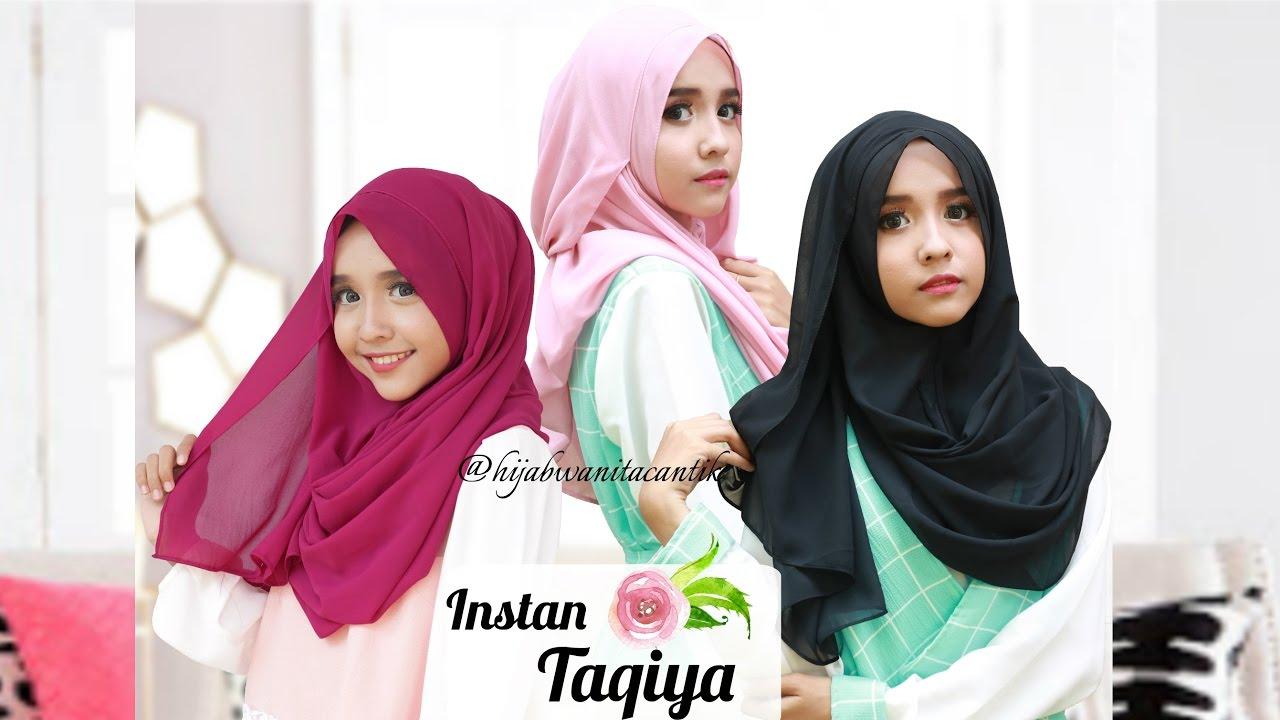 Hijab Instan Taqiya Pashmina Instan By Hijab Wanita Cantik Dengan
