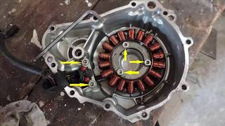Comment déposer le carter d'alternateur du BANDIT 650  How to remove  BANDIT 650 alternator cover