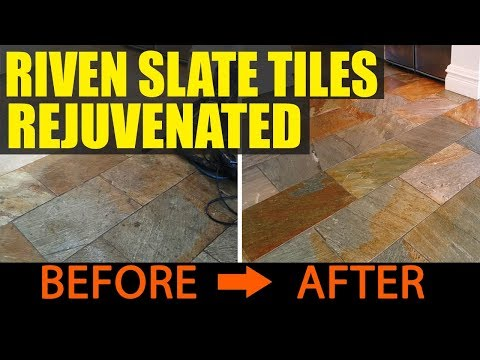 Riven Slate Tiles Rejuvenated By Deep Clean And Seal In Boston YouTube - Rejuvenate slate floor