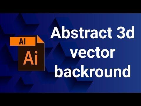 #indexofdesign Abstract 3d vector backround | 3d effects in Illustrator | Adobe Illustrator Tutorial