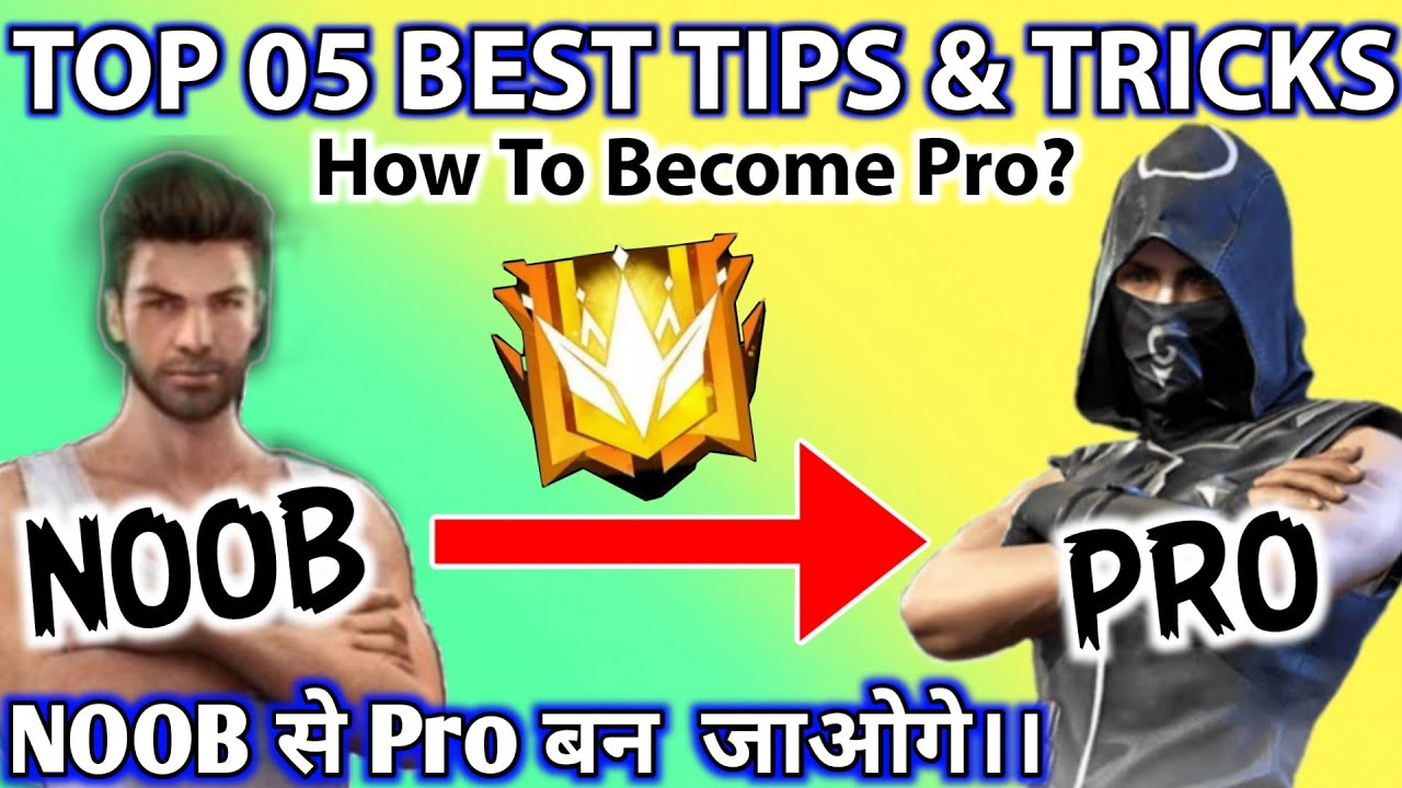TOP 5 BEST TIPS AND TRICKS - HOW TO BECOME PRO - #JONTYGAMING - GARENA FREEFIRE BATTLEGROUND